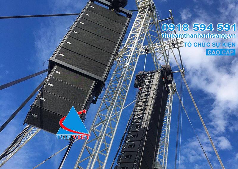 Cho thue am thanh line array rcf cao cap